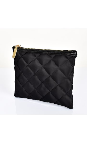 Quilted Zip Top Travel Pouch