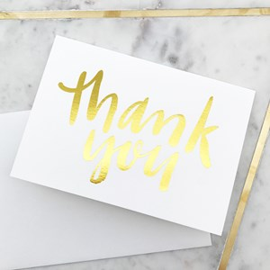 Elm G30 Thank You Gold Lettering Card