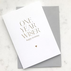 Elm GC1735 One Year Wiser Card