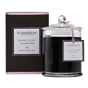 GLASSHOUSE Standard Candle Manhattan Orchid Rose Musk