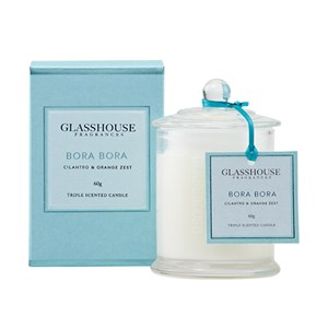 GLASSHOUSE Mini Candle Bora Bora Cilantro & Orange