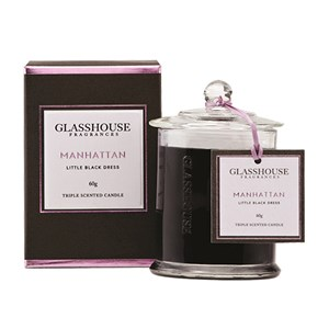 GLASSHOUSE Mini Candle Manhattan  Orchid Rose Musk