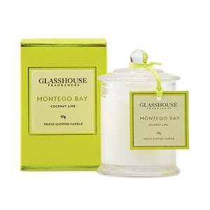 GLASSHOUSE Mini Candle Montego Bay Coconut Lime