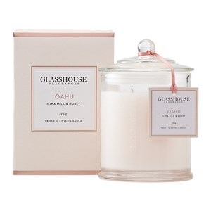 GLASSHOUSE Standard Candle Oahu llima Milk & Honey