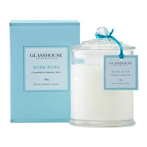 GLASSHOUSE Standard Candle Bora Bora Cilantro & Orange