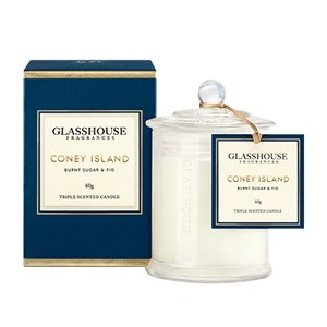 GLASSHOUSE Mini Candle Coney Island Burnt Sugar & Fig