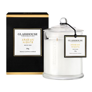GLASSHOUSE Standard Candle Arabian Nights White Oud