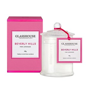 GLASSHOUSE Mini Candle Beverly Hills Pink Lemonad