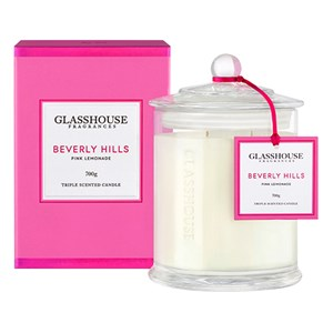 GLASSHOUSE Luxury Candle Beverly Hills Pink Lemonade