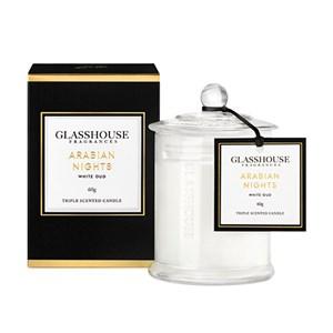 GLASSHOUSE Mini Candle Arabian Nights White Oud
