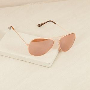 5869RR Mirrored Rose Gold Aviator Sunglasses