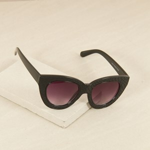 7467B Black Cats Eye with Snake Sunglasses