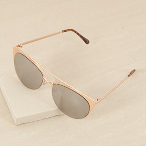 5031AM Metal Gold Half Frame w Bar Sunglasses