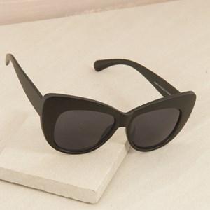 7468B Oversized Black Sunglasses