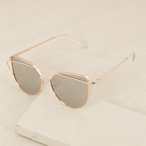 5043AM Gold Smoke Fine Wire Sunglasses